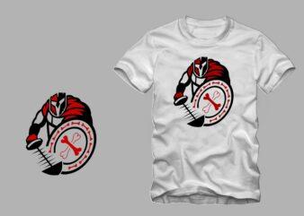funny spartan warrior vector illustration t shirt design for sale