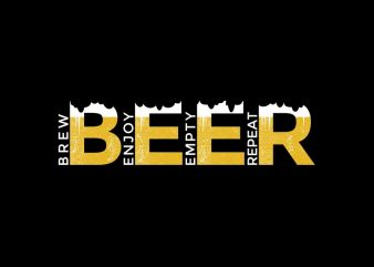 Beer t shirt design, Craft Beer Brewmaster Funny Gift, Brew Enjoy Empty Repeat, Beer Design For t shirt sale