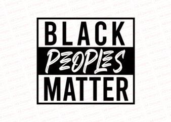 Black peoples matter T-Shirt Design