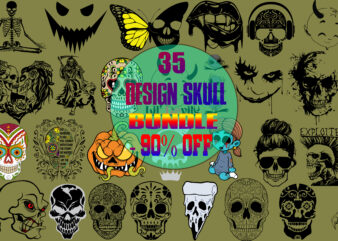 Skull bundle t shirt design, Bundle Skull, Skull vector
