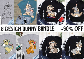 8 Bundle Rabbit design t shirt template vector, Rabbit svg, Bunny svg, Bundle Easter, Easter Bundle, Rabbit easter Svg