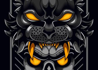 Tiger Head Skull
