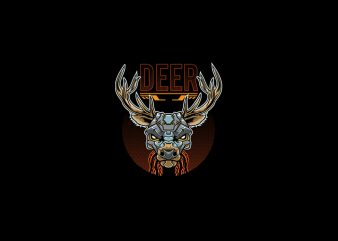 Deer Bot vector t-shirt design