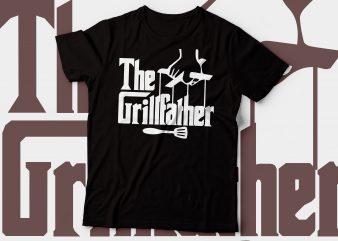 The grillfather t-shirt design t-shirt design | chef t-shirt design