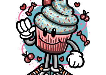 cute cupcake cartoon