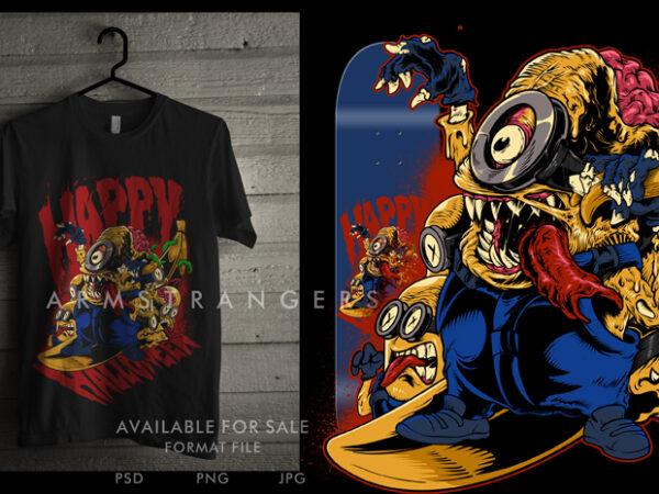Zombie Minion t shirt graphic design