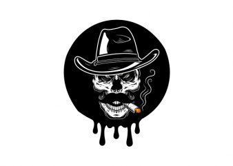Best selling skull t-shirt design