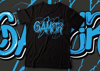 gamer graffiti text   graffiti typography design   game lover design