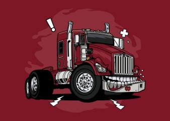 Monster red truck
