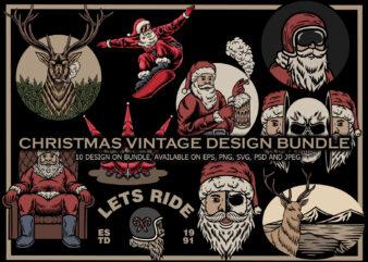 Christmas vintage design bundle