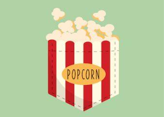 Popcorn Pocket Design – SVG – AI – EPS – PNG – JPG