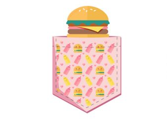 Pocket Burger Design SVG-EPS-AI-PNG-JPG