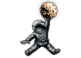 Astronaut Jump man