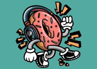 walking donuts t-shirt design