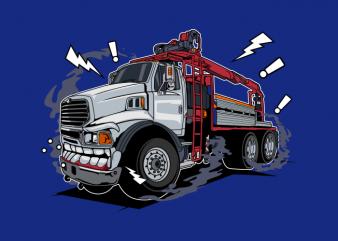 White truck monster