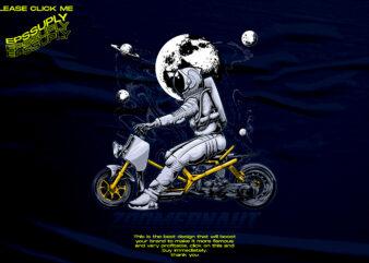 ZOOMERNAUT ASTRONAUT MOTORCYCLE DESIGN TSHIRT