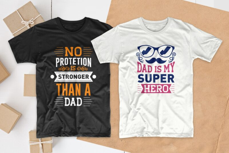 Dad T-shirt designs quotes bundle, Father's day quotes, Typography t-shirt design, Dad quotes bundle svg, dad svg, Inspiring quotes t-shirt design pack collection for commercial use, EPS SVG PNG PSD