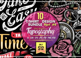 10 T-SHIRT DESIGN MINI BUNDLE PART 4