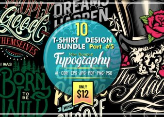 10 T-SHIRT DESIGN MINI BUNDLE PART 5