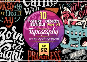 10 T-SHIRT DESIGN MINI BUNDLE PART 3