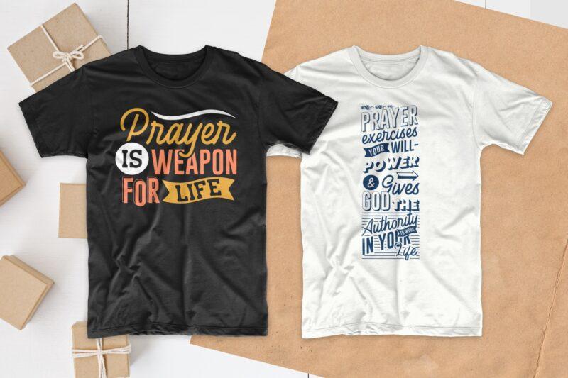Prayer t-shirt design bundle, Typography t shirt design, Religion t shirt designs bundles, Prayer, christian t shirt designs bundle collection, Prayer quotes, Prayer t-shirt design pack, Prayer svg bundle, EPES SVG PNG PSD