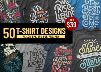 50 T-SHIRT DESIGNS BUNDLE Part 2