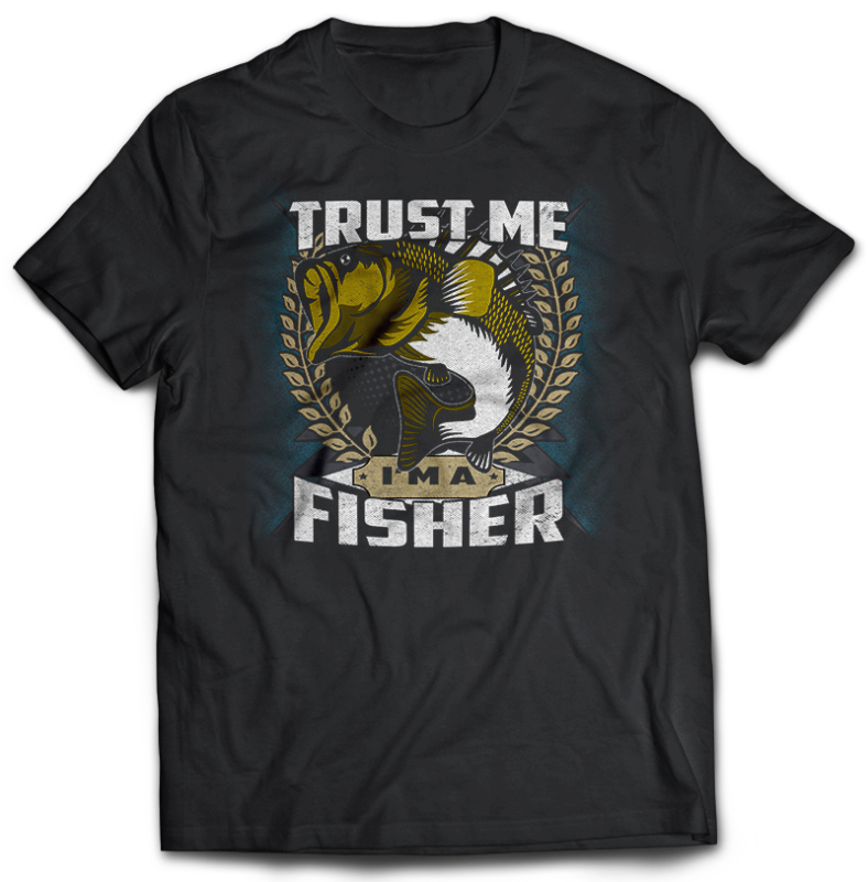 117 Fishing FISH Bundle tshirt design completed with psd file editable text and layer