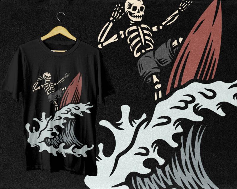 10 TROPICAL DEATH SURFER DESIGN BUNDLE