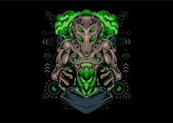 Alien monster diamond stone