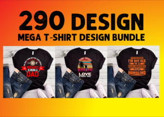 290 best selling Beer, valentine's day, Father's, Skull, Christian, Christmas, Halloween, typography t shirt designs bundle