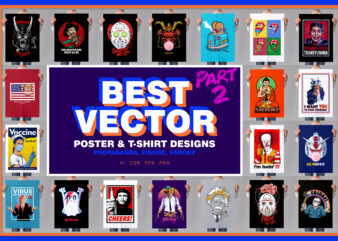 Best Vectors Poster & T-shirt designs Part 2