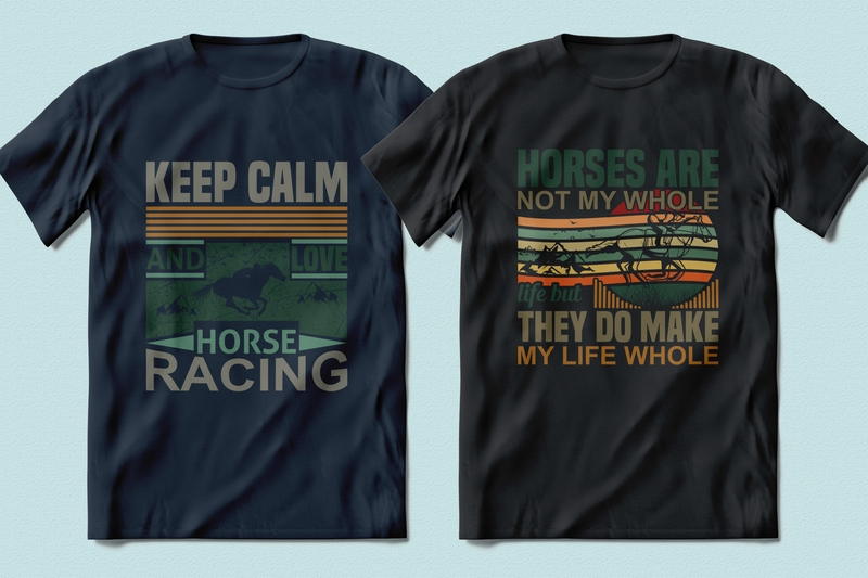 Best Selling 100 Horse Racing, Horse quotes T-shirt Designs Bundle -98% Off