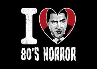 I LOVE 80S HORROR DRACULA