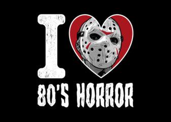I LOVE 80S HORROR JASON