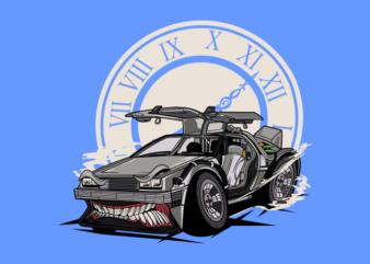 MONSTER CAR TIME MACHINE