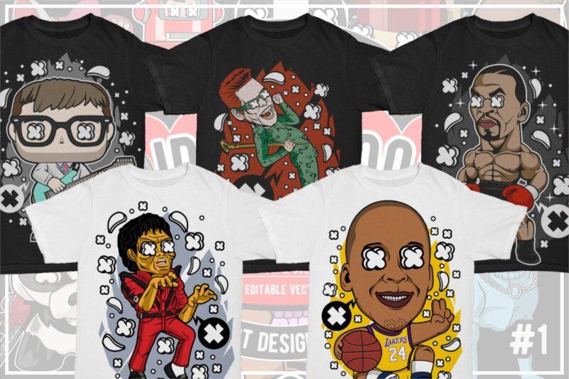 25 Kid Cartoon Tshirt Designs Bundle #5