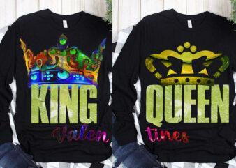 King, Queen vector, King and Queen valentines t shirt design, Happy Valentine's Day t shirt design, King vector, Queen PNG
