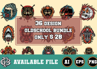 36 design oldschool bundle t-shirt design