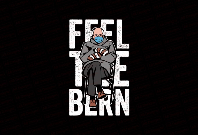 Feel the bern, Bernie sanders mittens T-Shirt Design