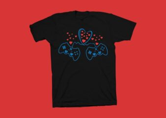 I love games, we love games vector illustration, gaming t shirt design, gamer t shirt design for sale