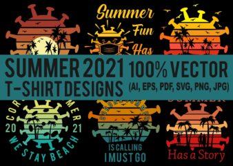 Best selling summer 2021 t-shirt designs bundle – 6 summer editable t shirt designs bundle, 90% off 100% vector (ai, eps, svg, pdf, svg, png), beach t shirt design bundle, surf t shirt bundle, surfing t shirt design bundle, summer t shirt design bundle for commercial use