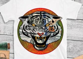 Tiger , Tiger face t shirt design, Angry tiger face t shirt design, Funny Tiger vector