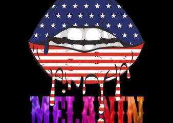 Melanin, Dripping lips Melanin, Melanin vector, Melanin PNG, Melanin, Drip Lips, Sexy melanin lips, American flag on the lips vector
