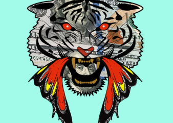 Angry tiger face t shirt design, Angry tiger vector, Tiger vector, Tiger Png, Angry tiger Png, Tiger face vector, Tiger face Png, Angry tiger Png, Funny tiger dollar vector, Dollar tiger Png, Tiger design