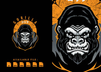 Gorilla T-shirt Design