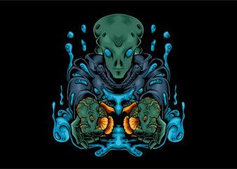 Alien flower horn fish