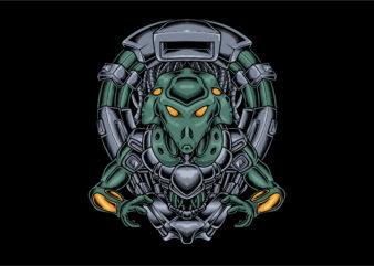 Alien three head cyberpunk