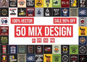 50 Mix design bundle 100% vector ai, eps, svg, png