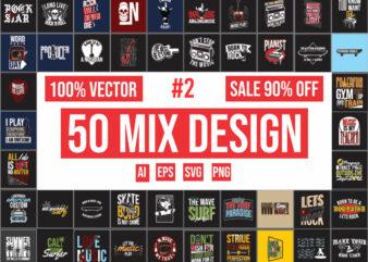 50 mix design bundle #2 | 100% vector ai, eps, svg, png