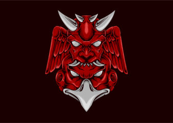 Hannya mask eagle head